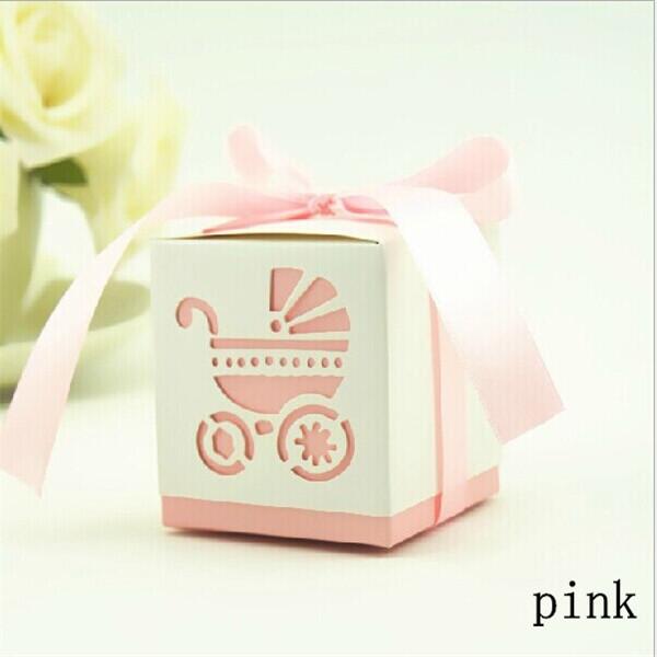 200pcs 6*6* 6cm 5 Color Baby Car Shape Candy Box With Ribbon Paper Favor Box Wedding Favors Box Wedding/Birthday Decoration(China (Mainland))