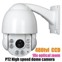 "4"" IR Day Night SONY MINI PTZ Camera,1/3 SONY CCD 480TVL Outdoor mini high speed dome camera,10X optical zoom"