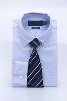 2015 Fashion Stylish Brand casual Shirts Men Long Sleeve Shirt Cuff Mens Dress Shirts have logo #739