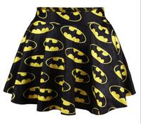 Hot sale!!! R14 New 2015 summer3d skirts womens pleated skirts BATMEN The Flash Printed Skirt Saia casual skirts woman