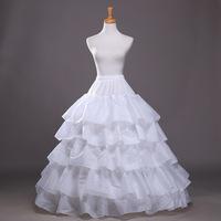 Petticoat 5-Tier Ruffles A-Line Ball Gown Style Petticoat Underskirt Petticoats For Wedding Dress Crinoline
