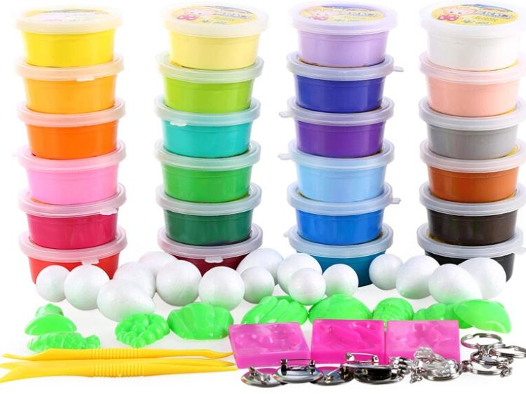 2015 Promotion Top Fashion Colored Clay Handgum free Shipping Ultra-light 24 Colors 3d Sets Children Space Educational Toy(China (Mainland))