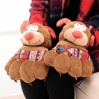 Big Gloves Korean Cartoon With Rope Fingers Paws Warm Gloves Fashion Accessories