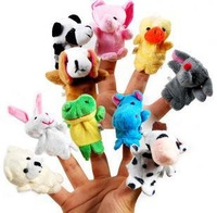 1000pcs/lot Cartoon Animal Finger Puppet Finger Baby Learning Toy Finger Doll Baby Dolls Baby Toys Animal Doll