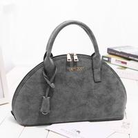 2015 new European American fashion designer women's vintage nubuck leather handbag samgus messenger bag shell bags free shipping