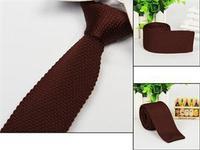 Brand Men's Knit Knitted Narrow Slim Tie Necktie New Fashion Skinny Woven Men's Solid Tie