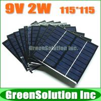 10PCS X 9V 2W Mini Plycrystalline Silicon Solar Battery Panel Charge for Small Solar Power Kits DIY Education Study