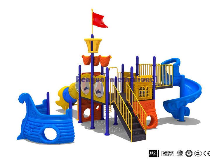 RYH-002 plastic kids slide children playground amusement park pirate ship outdoor play equipment(China (Mainland))