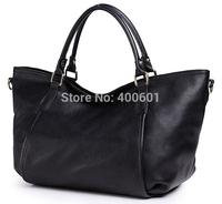 Superior cowhide material lady handbag and lady single shoulder bag