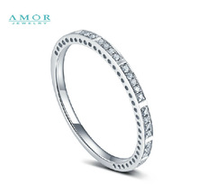AMOR BRAND THE FLOWER OF LOVE SERIES 100 NATURAL DIAMOND 18K WHITE GOLD RING JEWELRY JBFZSJZ291