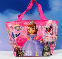 High quality  Free shipping 22pcs /lot SOFIA princess kids Mini bag,Children's cartoon nylon bag/Waterproof bag /handbag,