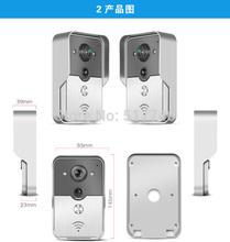 2015 newest IP Doorbell Wifi, Smartphone Wifi Doorbell, Remote Answer Wifi Video Door Phone