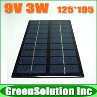9V 3W 350mA Polycrystalline Silicon Solar Panels, Mini Epoxy Solar Battery Panel Charge for DIY Solar Power Kit