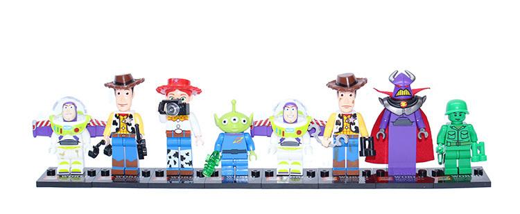 Action TOYS SY172 8pcs/lot toy4 story Mr Potato Head Jessie Woody Buzz enlighten Building bricks block Minifigures Classic Toys(China (Mainland))