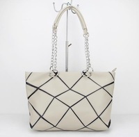 high quality Fashion women Bags pu Super patchwork pu bag Shopping Handbag Casual Shoulder Bag  H090 beige