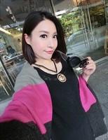 Stripe Tassels Imitation Cashmere Scarves Korean Fashion Lady Collision Color Long Shawl Scarf For Women