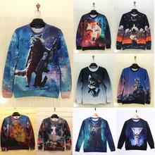 2015 brand fashion hipster hoodies men 3d anime/animal element graphic crewneck sweatshirts swag clothes sudaderas hombre blusas(China (Mainland))