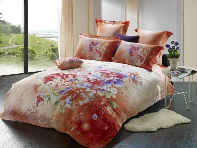 Full Queen Size 3d 4pieces Bed Sheet Set 5pieces Comforter