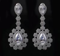 Wholeslae 1pc CZ Fairy Tale Princess Snow Drop Earring E10021
