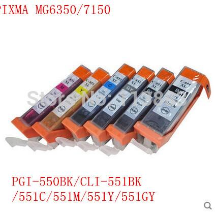 Картридж с чернилами BLOOM 6 /CLI BK PGI 550 551 BK /c/m/y/GY 6 canon PIXMA MG6350 MG7150 IP8750 PGI 550BK CLI-551BK C M Y GY картридж с чернилами compatible 6 x pgi 450 cli 451 bk c m y gy canon mg6340 mg7140 pgi450