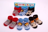 3 groups baby cotton socks newborn infant animal pattern meias infantil baby shoe socks winter calcetines sonajeros 3pcs/lot