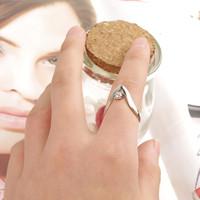 2015 fashion jewelry rhinestone letter V shape ring for girl wedding ring gift