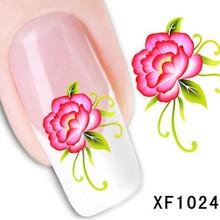 1Pcs Nail Art Water Sticker Nails Beauty Wraps Foil Polish Decals Temporary Tattoos Watermark + Free Shipping (XF1024)(China (Mainland))