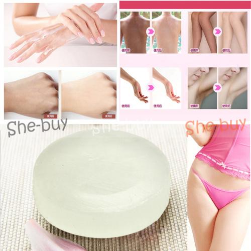 1pcs Active Enzyme Crystal Bath Shower Soap Body Areola Skin Whitening Soap Handmade(China (Mainland))
