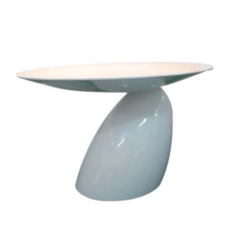 Glass and steel coffee table / mushroom coffee table / tables, designer negotiate / minimalist parlor small coffee table / Creat(China (Mainland))