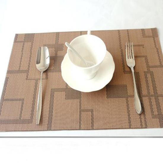New 45x30cm Pvc Placemats Insulation Western Pad Dining  : New 45x30cm Pvc Placemats Insulation Western Pad Dining Table Mat Khaki Slip resistant 2 pcs set from sites.google.com size 550 x 550 jpeg 170kB