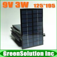 10PCS X 9V 3W 350mA Mini polycrystalline silicon epoxy solar battery Panel charge for small solar power kit DIY education study