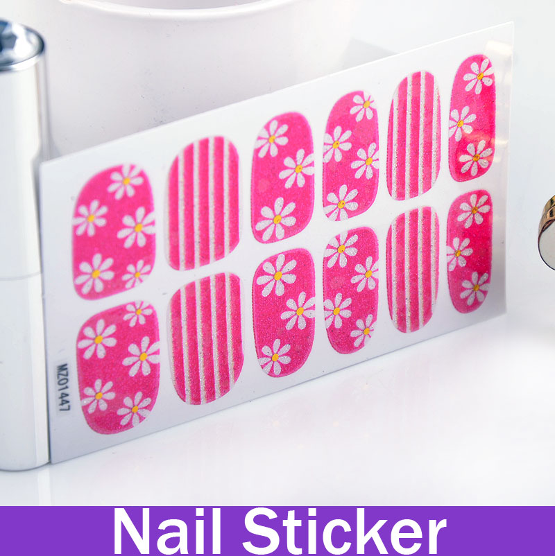 5 Sheets Rosy Pink Blossom Gold Stamping Nailing Sticker Nail Painting Nail Art Ideas All For Manicure(China (Mainland))