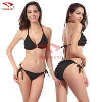 Rugosity 2015 New Arrival Sexy Bikini Swimwear women China Shoulder Strap bikinis set wholesale swimsuits brazilian 11Color