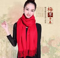 Erdos cashmere scarves Korean female winter wool scarf shawl thick dual-long student joker