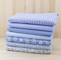 7pcs Blue 100% Cotton Patchwork Fabric for DIY Sewing Quilting Tissue extiles Tilda Doll Cloth Fabric 50*50cm Quarters