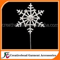 new design diamante rhinestone cake topper snowflake cake topper