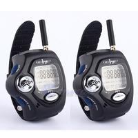 2pcs/Pair Portable Digital Two 2-Way Free Talker Walkie Talkie Radio Wrist Watch Free Shipping