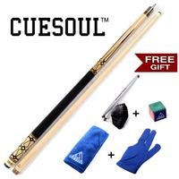 Free Cue Towel+Billiard Gloves+Chalk Pen+Billiard Chalk,CUESOUL CSPC005 58 Inch Billiard Pool Cue,13mm Cue Tips