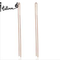 Italina Rigant R.A Long Brinco For Women Simple Tassel Dangle Earrings Dropshipping