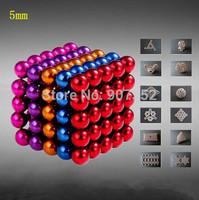 Free Shipping 5 mixed color Retail Cheap Buckyballs Neocube Magic Cube 125 pcs Diameter 5mm Magnetic Balls
