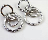 Retro Gold Plated Five Loops Dangle Earrings European Trendy Women Drop Earrings Dropship