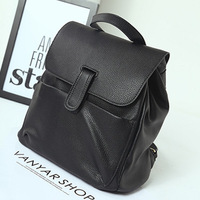 HOT !!! Free Shipping College Style Pu Leather Backpack black Women Travel Bag School Backpack  Women Backpack