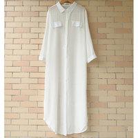 2015 summer new Korean sun protection clothing translucent chiffon shirt loose long shirt dress shirt female cardigan jacket