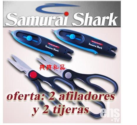 free shipping as seen on tv samural shark scissors sharpener new device knife sharpener(China (Mainland))