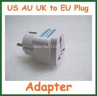 40pcs Universal Travel Adapter Australia AU / USA US / UK  to EU Plug Wall AC Power Adapter 250V 10A Socket Converter
