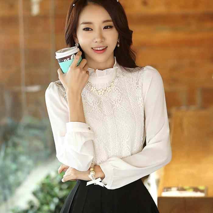 2015 autumn new professional womens plus size shirts blouses and velvet lace shirt long sleeve bottoming shirt(China (Mainland))
