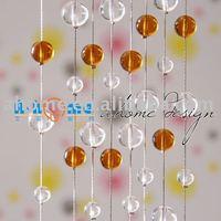 CG003amber Room Divider / String Curtain / Home Decoration / Handmade crystal glass beaded curtain