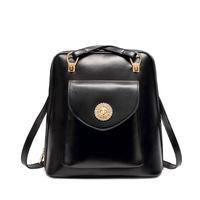 2015 Brand New Popular  Women Backpacks Women's PU Leather Black Desigual Bag Girls School Backpack