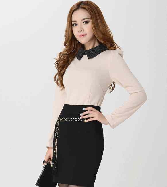2014 chiffon long sleeve chiffon shirt Ladies Professional shirt shirts at the end of wild white blouse(China (Mainland))