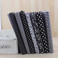 7pcs Black 100% Cotton Patchwork Fabric for DIY Sewing Quilting Tissue extiles Tilda Doll Cloth Fabric 50*50cm Quarters